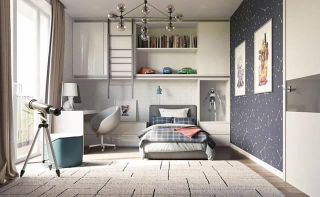 Детская комната в стиле лофт для мальчика-подростка или девочки: фото интерьера