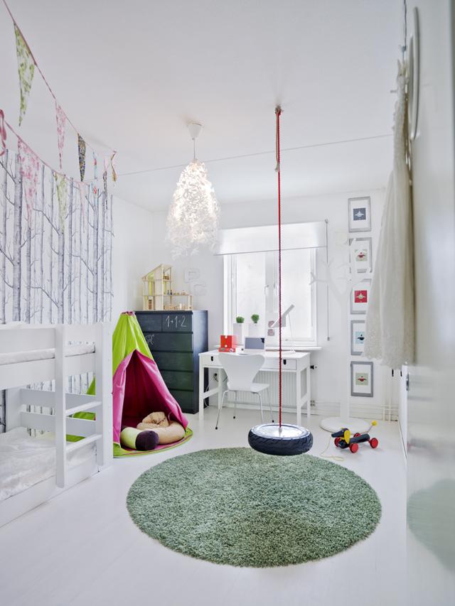 Детская комната в скандинавском стиле для девочки или мальчика разного возраста