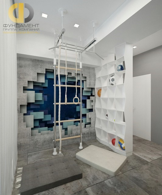 Дизайн детской комнаты с балконом для детей и подростков: фото интерьера