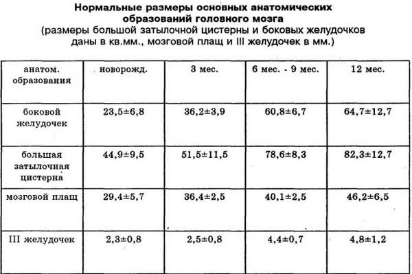 Боковые желудочки мозга: норма у плода, таблица по неделям, лечение вентрикуломегалии
