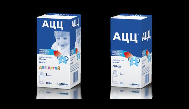 АЦЦ для детей : инструкция по применению порошка, сиропа, таблеток