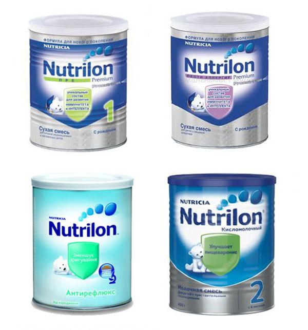 Смесь Нутрилон: таблица с составом детского питания, виды (Премиум, Пепти и др)